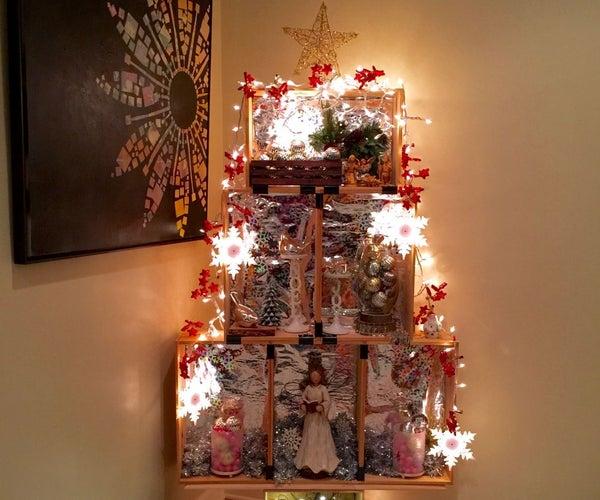 DIY Crate Christmas Tree