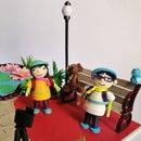 Mini Garden With 3D Quilling Figures