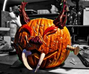 Decorating Carved Pumpkin (3D Printable Models)