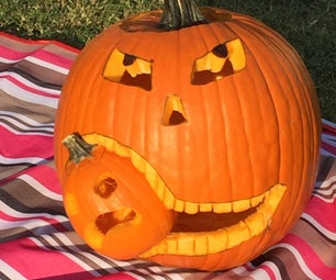 How to Carve a Pumpkin Eating Another Pumpkin.