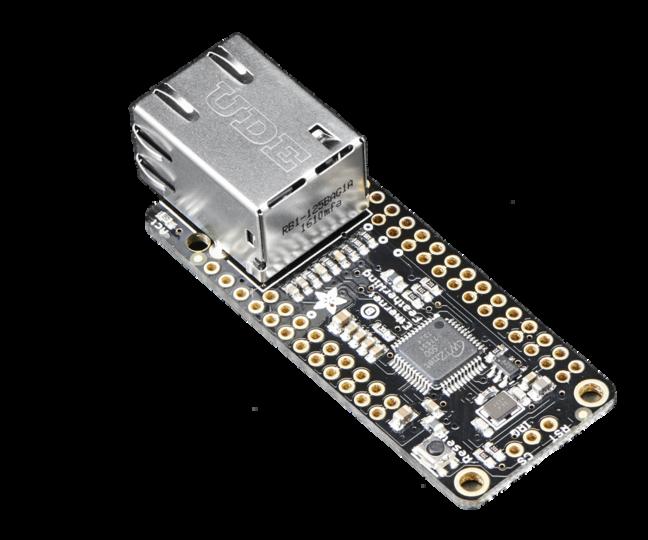 Connect the Adafruit Ethernet FeatherWing to Ubidots