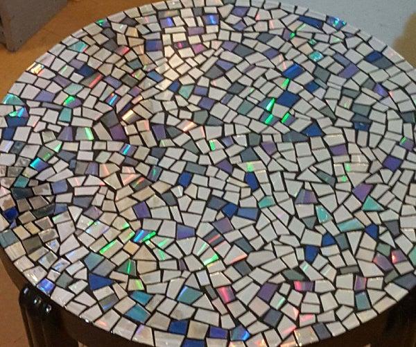 CD Mosaic Table