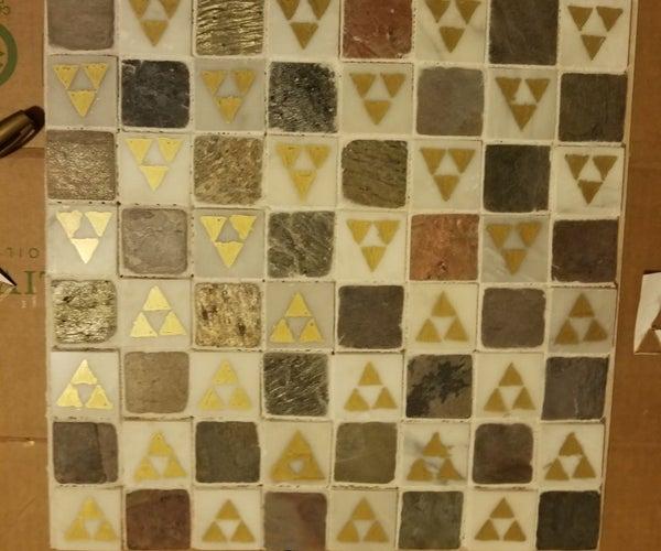 Mosaic Tile Chess Board- Zelda Theme