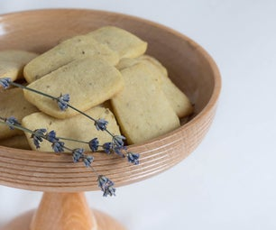 Vegan Lavender Shortbread Cookies