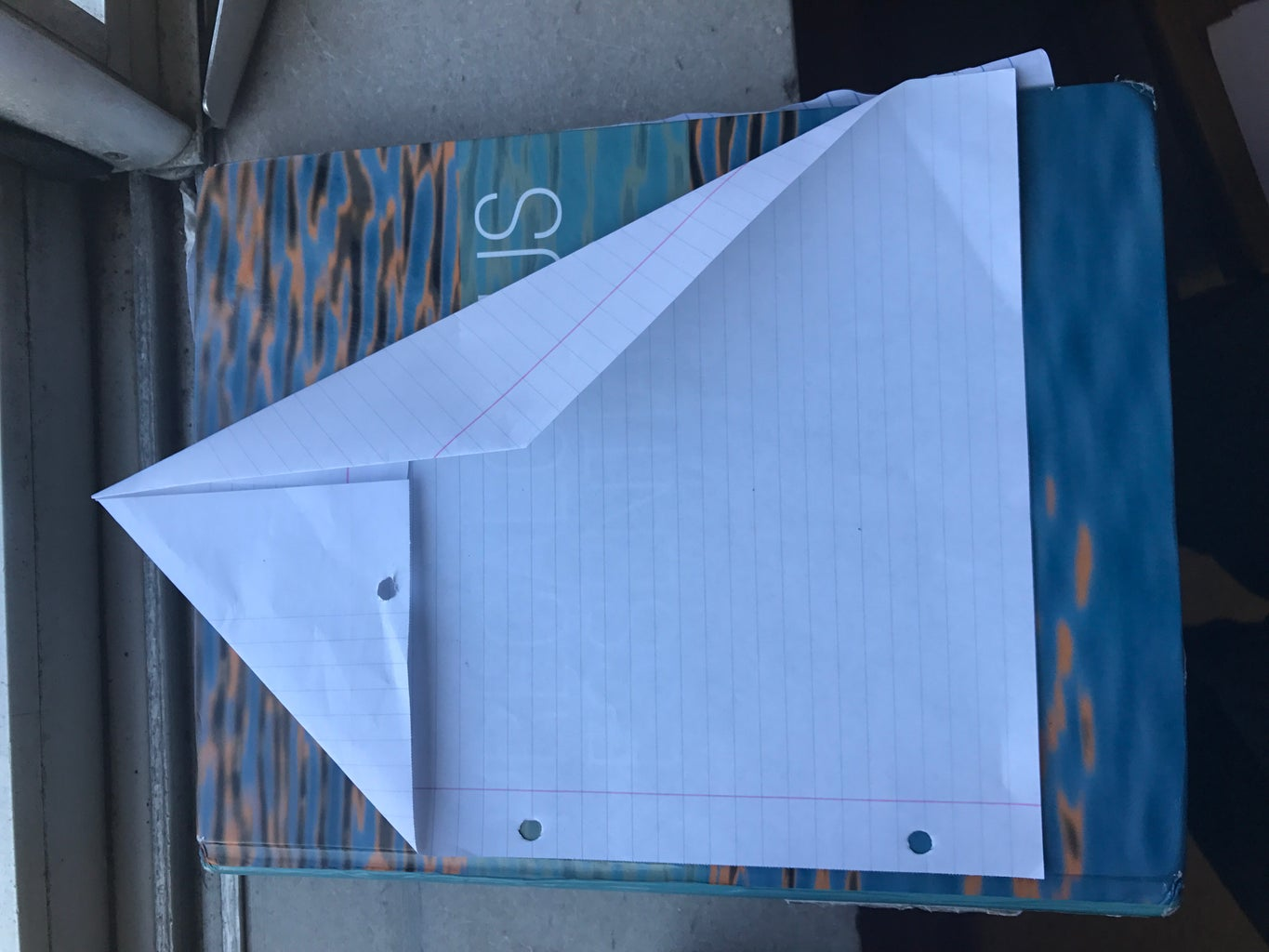 Flip the Paper Back Around and Fold the Top Right Crease Towards the Center