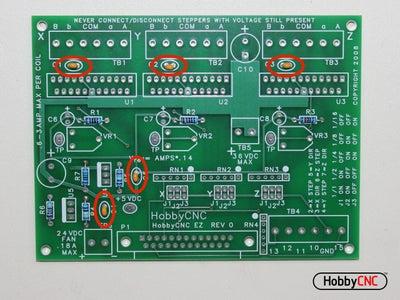 Install (5) 0.1uF  Capacitors