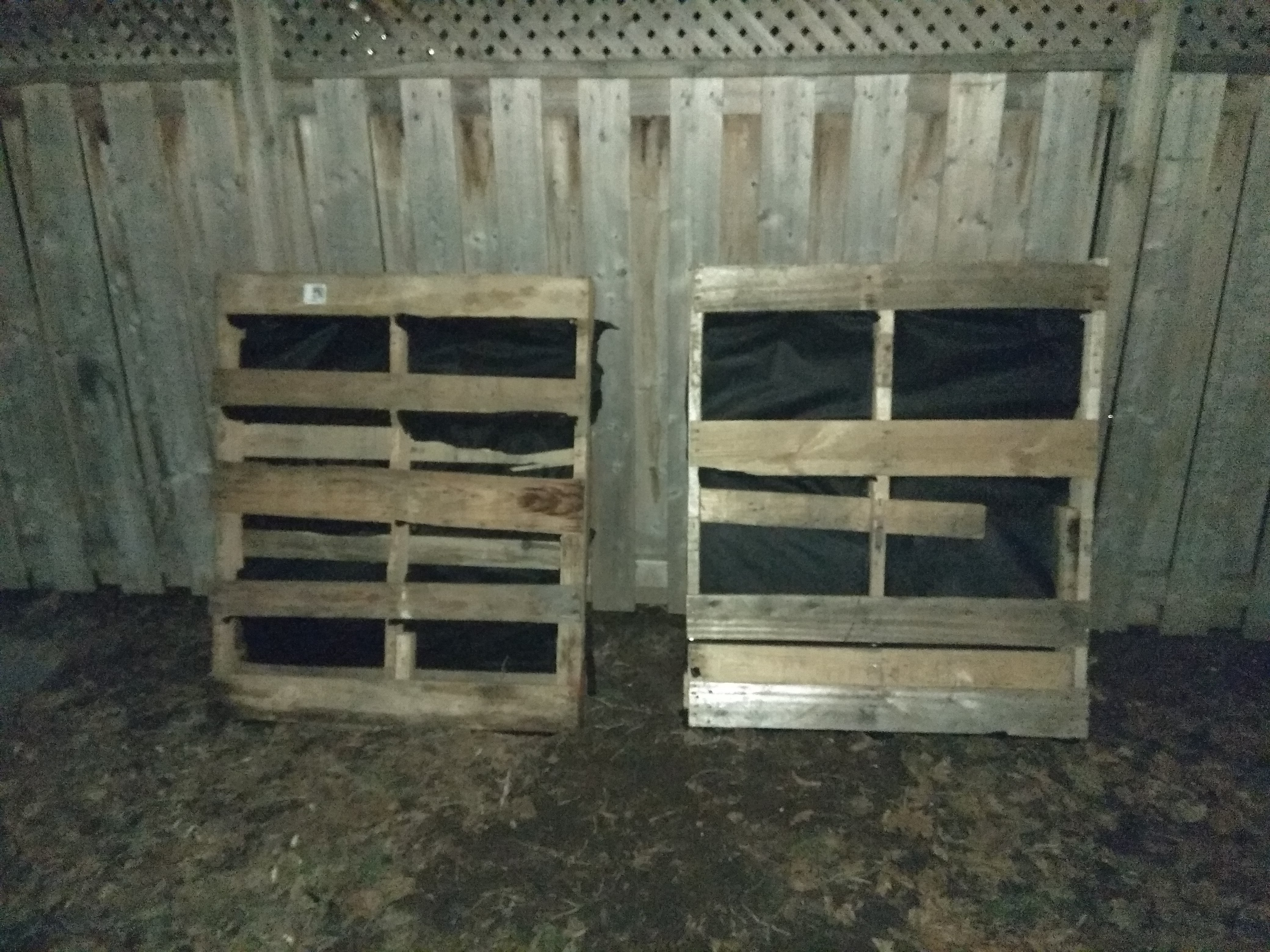 Upright Standing Pallet Planter