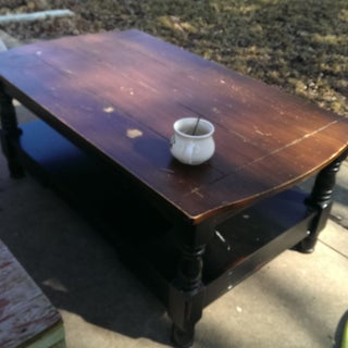 Anique Style Kitchen Island/table Refinishing on a Budget
