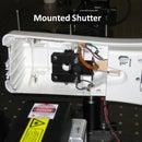 Air-freshener based mechanical laser shutter