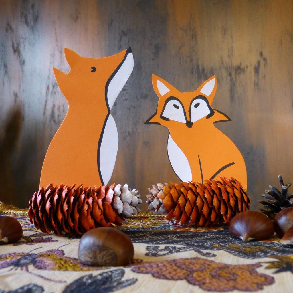 Pinecone Foxes - Autumn Decoration
