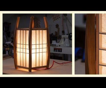 Twisted Bent Lamination Lamp