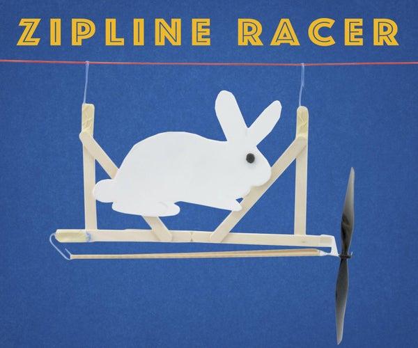 Propeller-Powered Zipline Racers
