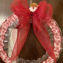 Christmas Wreath Made of Plastic Cups