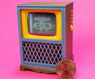 """Working Miniature """"Television"""""""