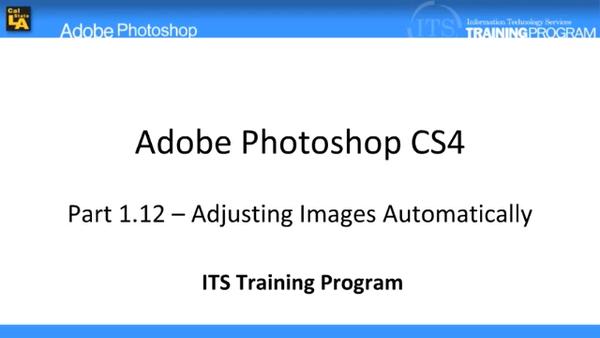 Adjusting Images Automatically: Adobe Photoshop (1.12)
