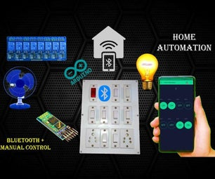 Home Automation System Using Smartphone and Bluetooth Part 2 With Manual Control