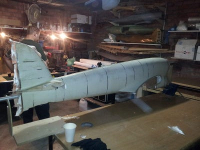 Glassing and Smoothing the Fuselage