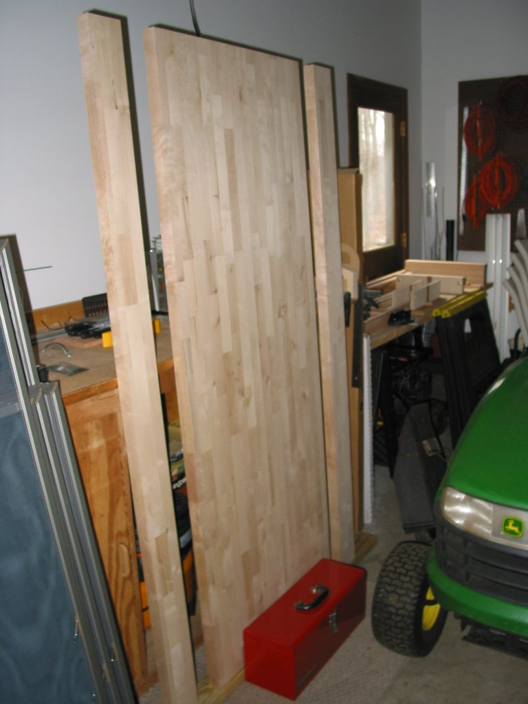 Buying a Ready Made Bench Top & Milling the Lumber for the Base