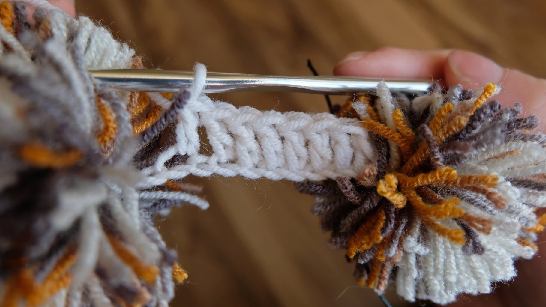 Crocheting. the Second and Third Rows