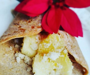 Apple Coconut Crepe