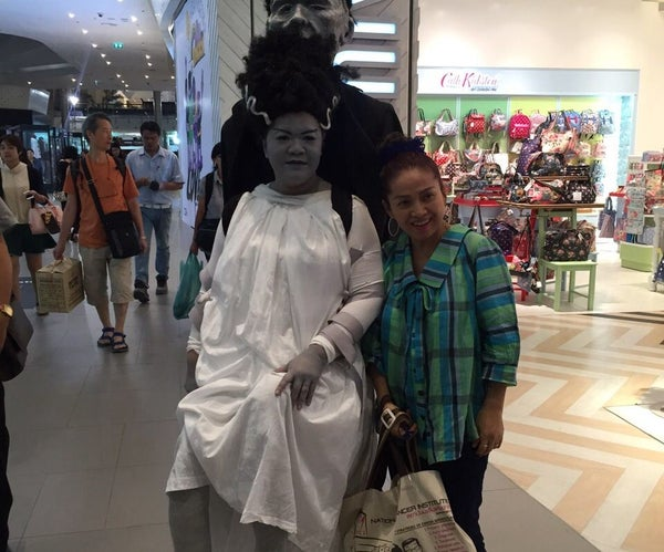 Bride of Frankenstein Illusion Costume for Halloween