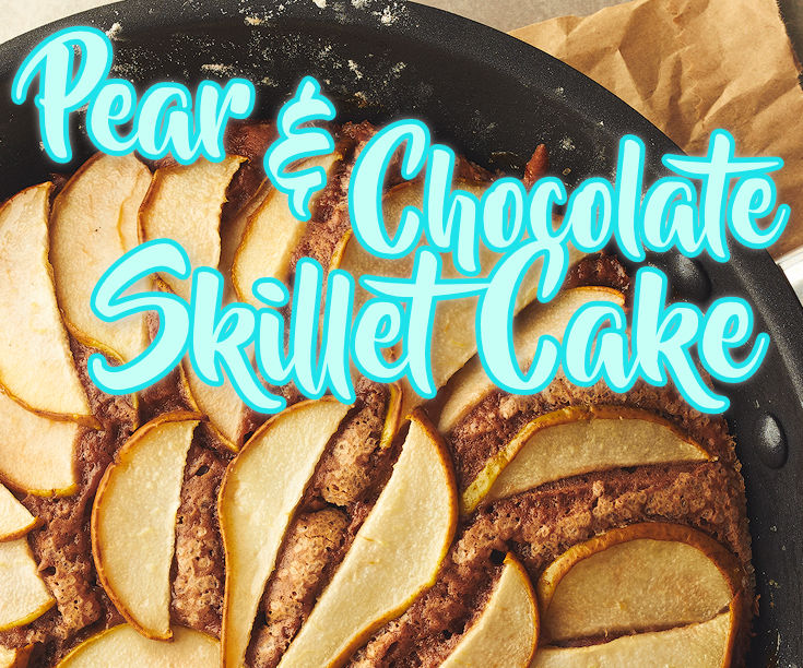 Pear and Chocolate Skillet Cake