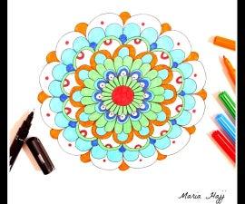Basic and Simple Mandala Design Tutorial