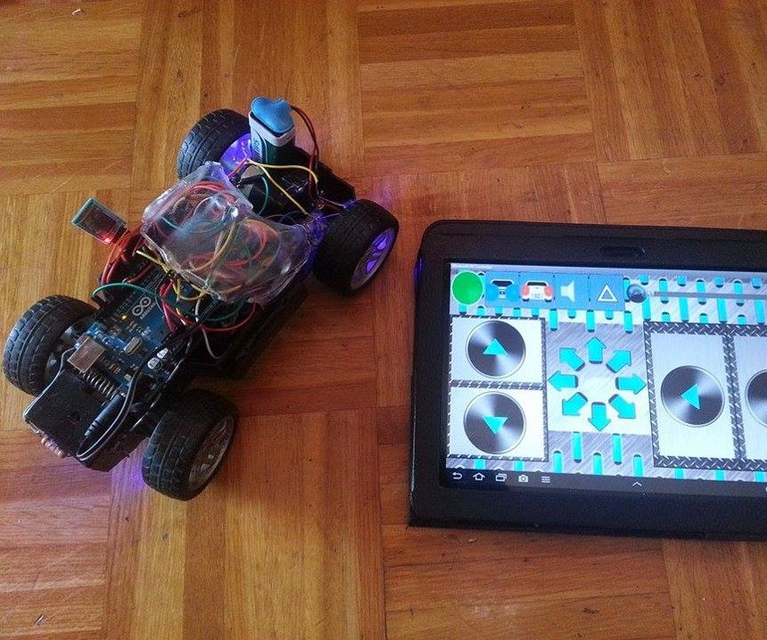 Simple bluetooth controlled car