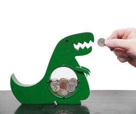 T Rex Coin Chomper // Dinosaur Piggy Bank