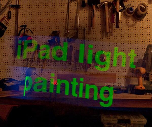 IPad Light Painting