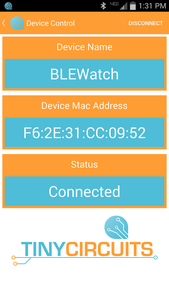 Connecting the Watch (Android)