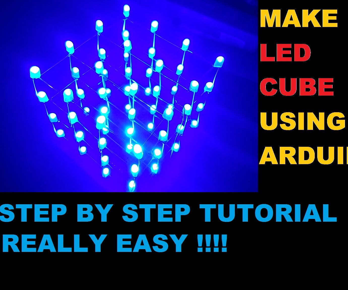 LED CUBE 4X4X4 USING ARDUINO UNO