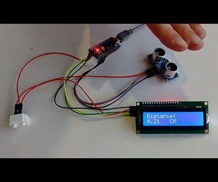 Arduino Nano: Ultrasonic Ranger(Ping) Distance I2C 2 X 16 LCD Display With Visuino