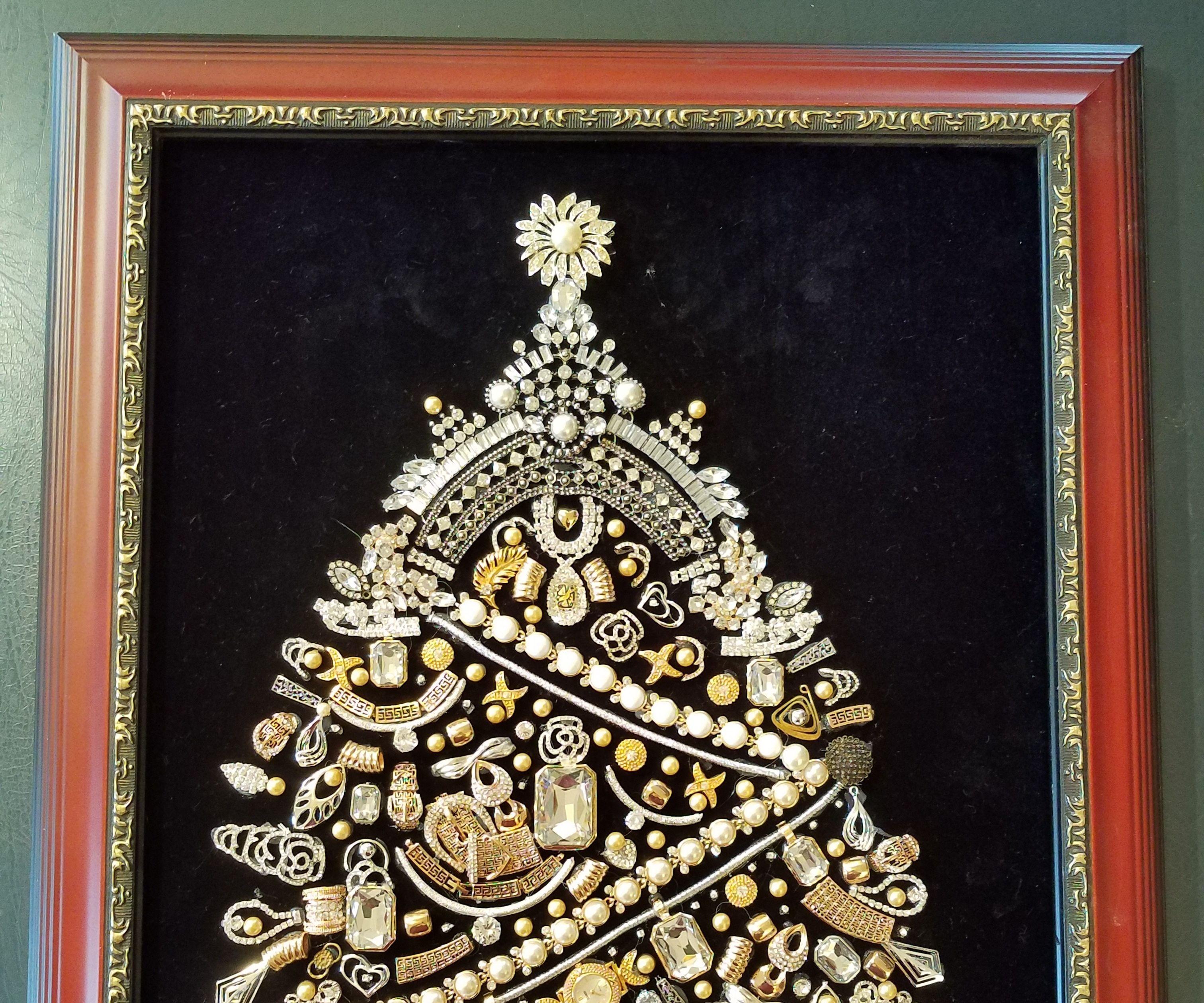 DIY Vintage Jeweled Christmas Tree