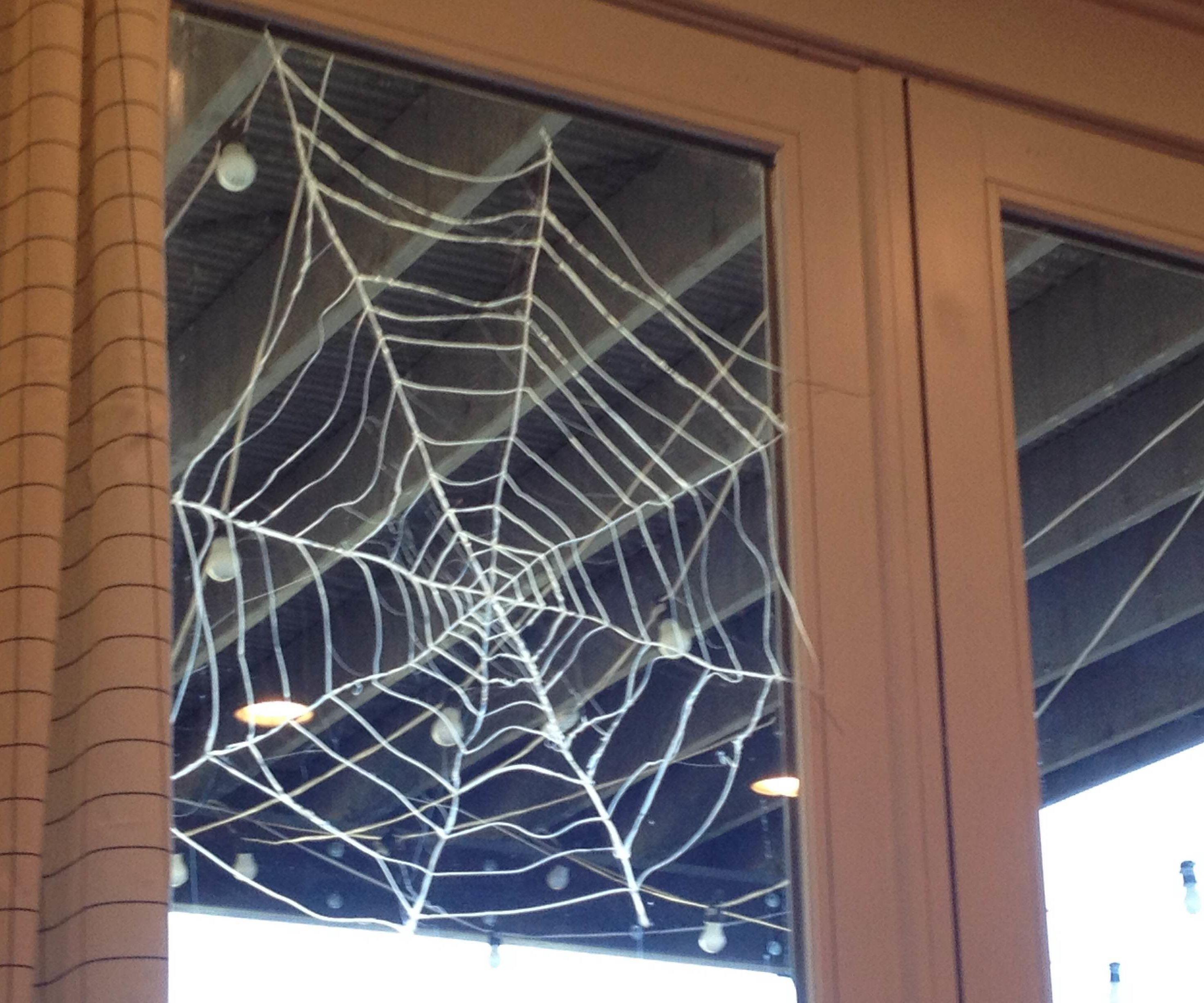 Easy Glue Spider Web