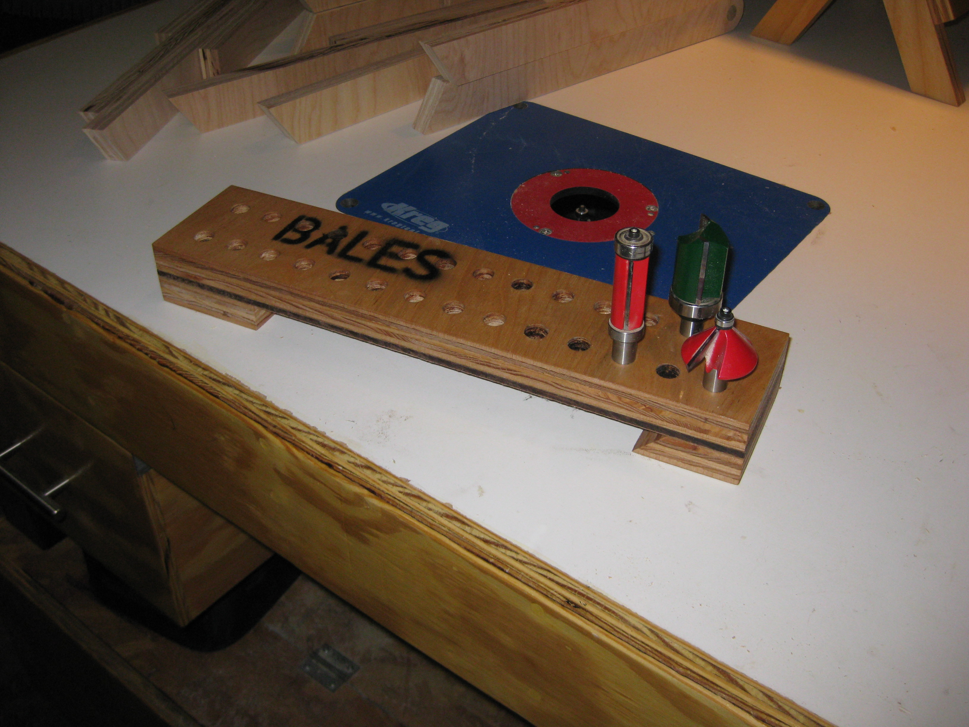 The Router Bit Storage Rack/Tray