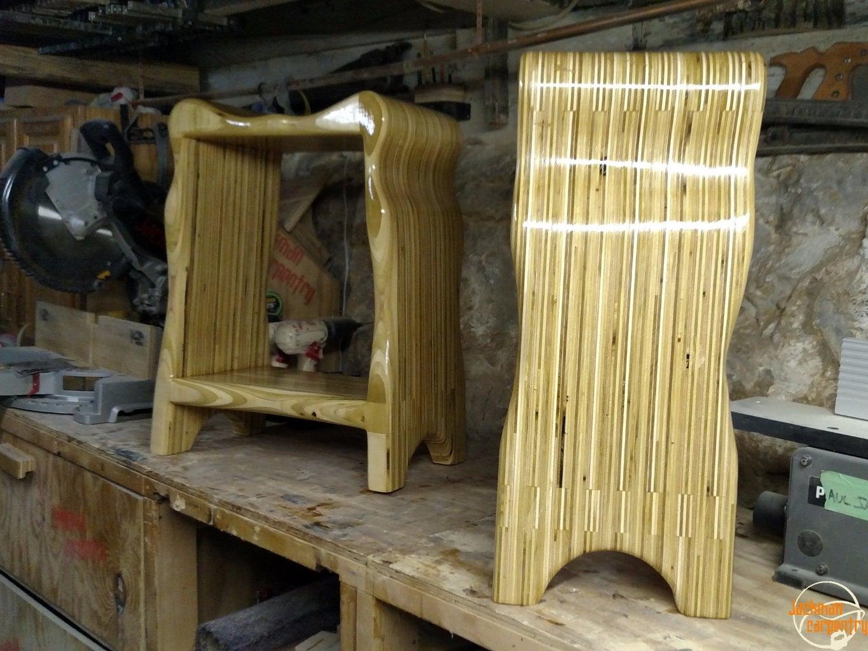 Curvy Plywood Stools