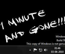 Making Windows 7 genuine ----- 1 minute !