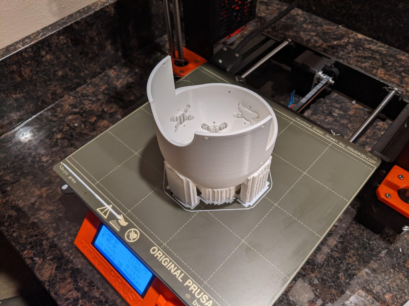 Print Led Dome and Do Final Pretest