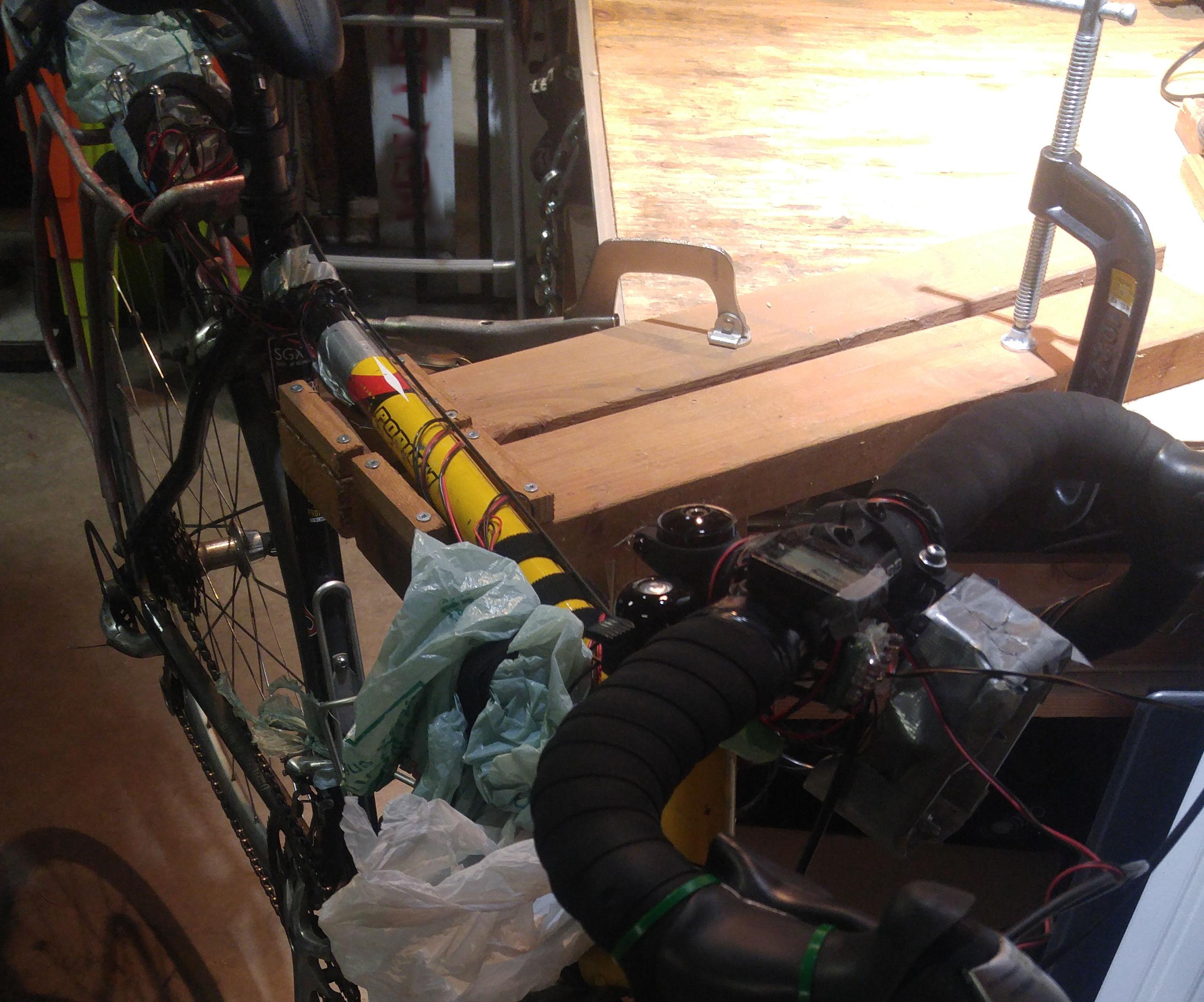 DIY Workbench Removable Bike Repair Stand