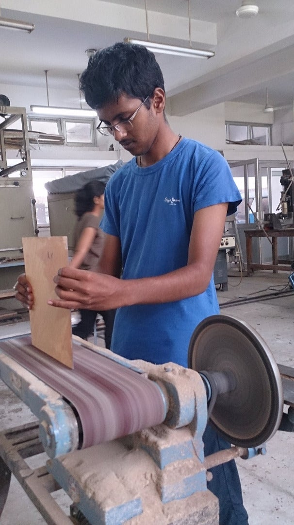 Plaining of Glass and Plywood