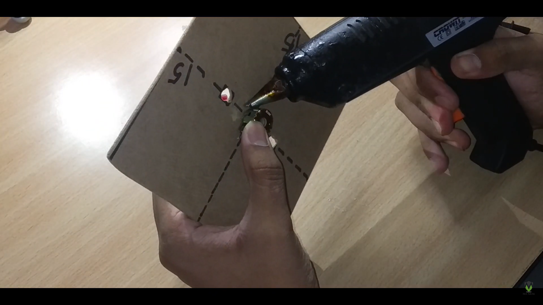 Hot Glue the Speaker Drivers in Their Place With All Other Components