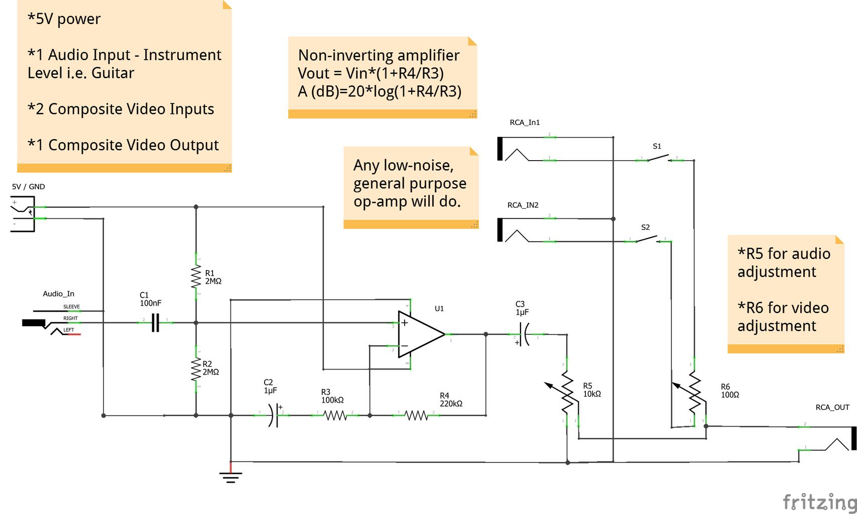 Breadboarding/Amplifier Circuit Construction