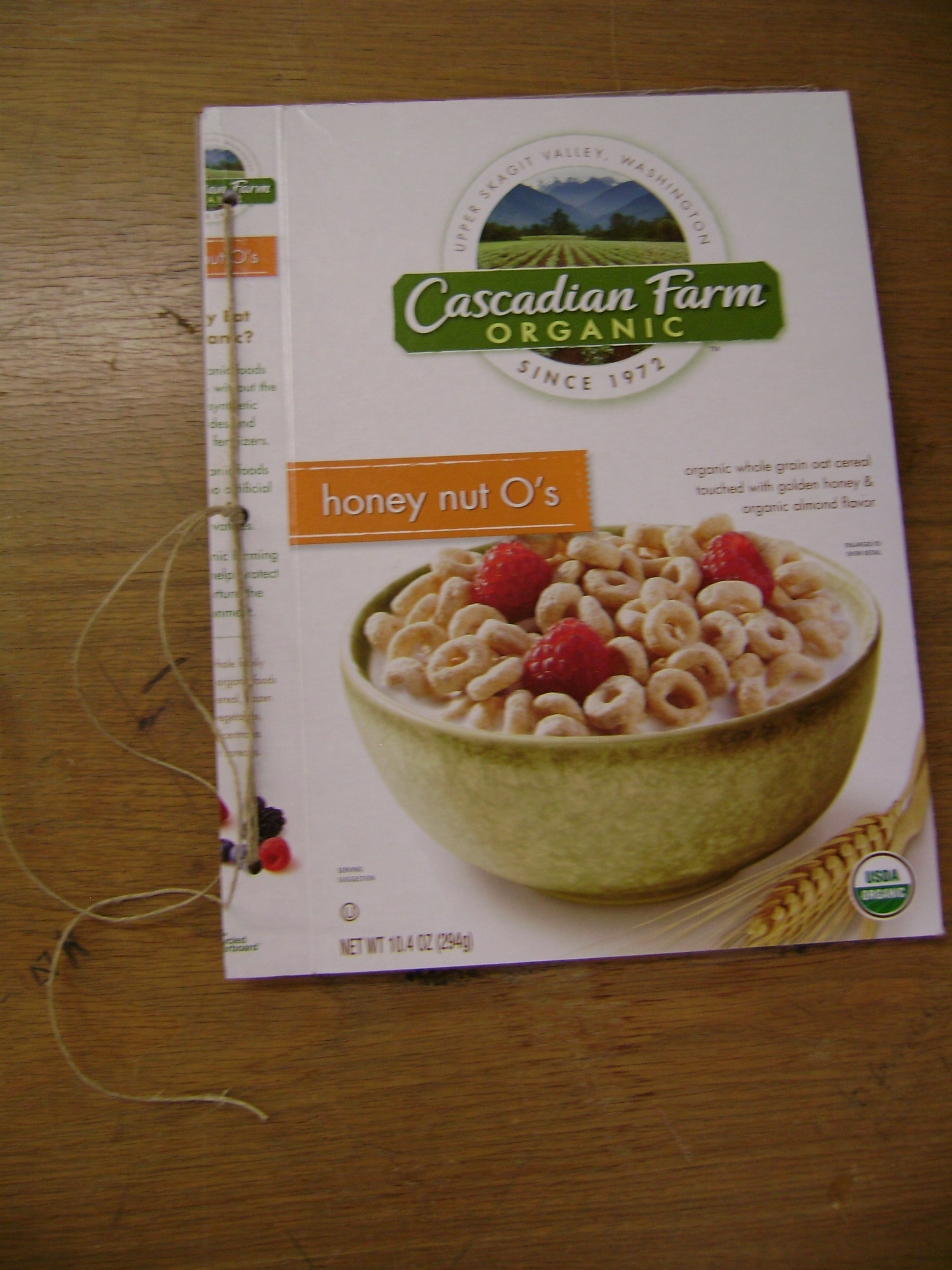 Up-Cycled Cereal Box Notebook