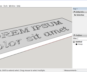 Engrave 3D Text With Sketchup
