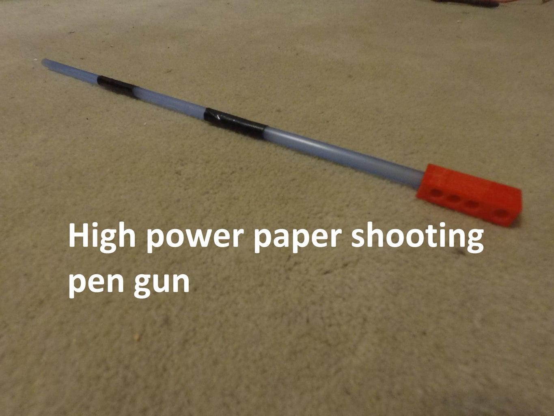 High Power Paper Shooting Pen Rifle
