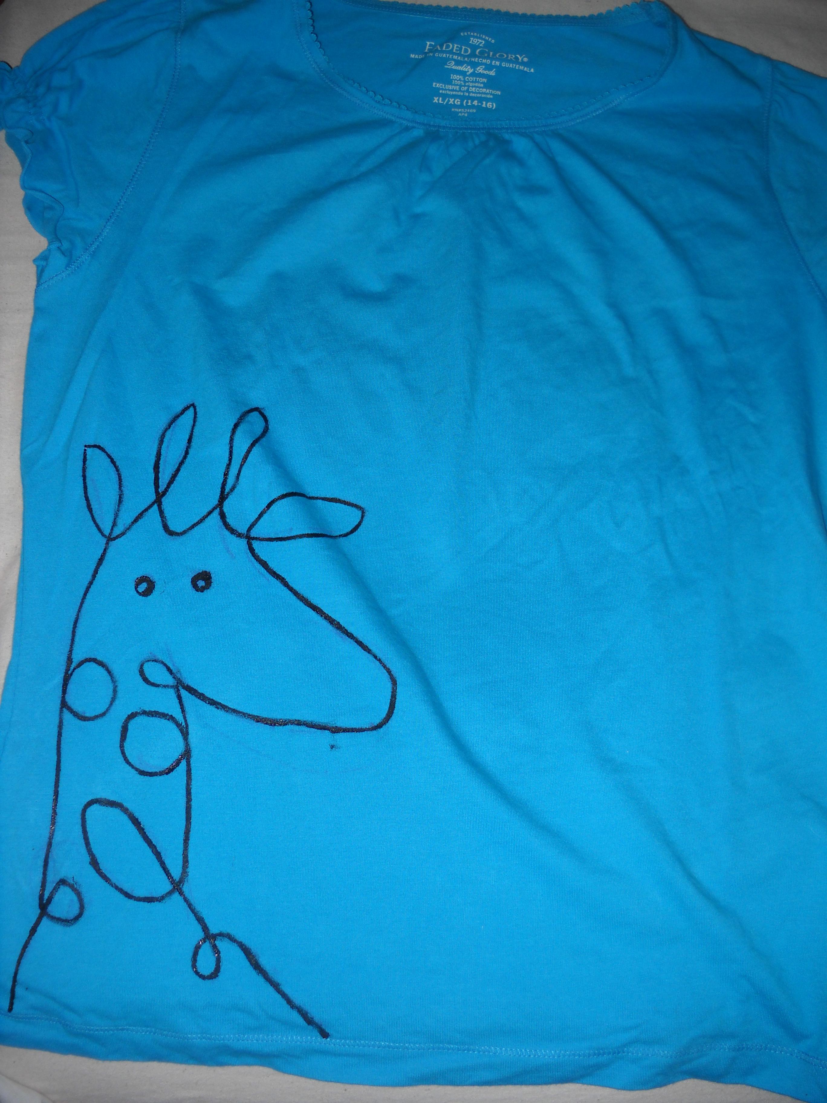 Doodle Giraffe Shirt