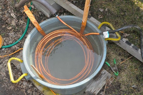 Tub O' Water Solar Heat Exchanger