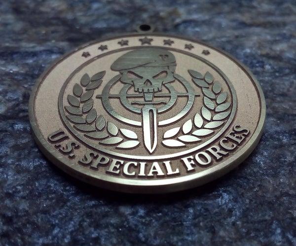 Fiber Laser Making a Medal