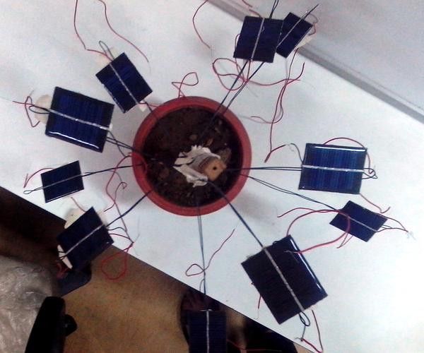 Fibonacci Pattern of Solar Cells